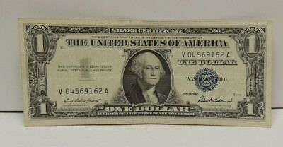 .United States $1 Silver Certificate 1957 Priest/Anderson Serial #V04569162