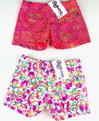 2 PC Reflectionz Girls Sz 10 Gymnastic Dance Shiney Shorts