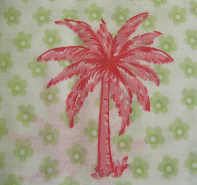 New Pottery Barn Kid PALM Tree TODDLER Bed DUVET girl Surf Beach pink Defect