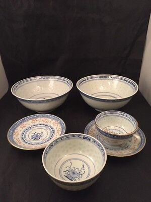 Vintage Chinese Rice Bowl Lidded Bowls Made In China