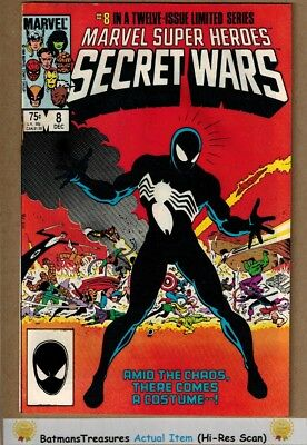 Marvel Super Heroes Secret Wars #8 (5.0) VG/Fine Spider-Man Black Suit 1984