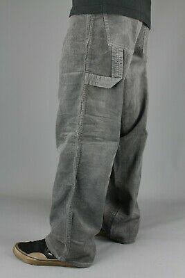 Three Sixty 254 Youth Mens Grey Carpenter Cords Loose Fit Trouser Skate Supreme