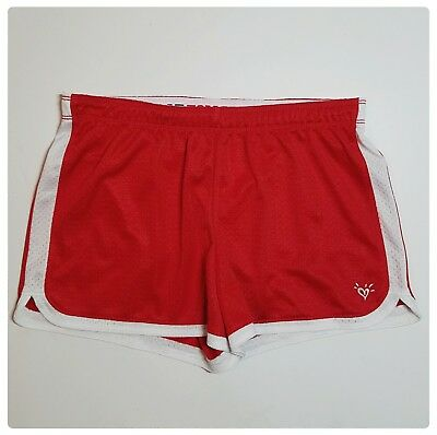 Justice Athletic Shorts Girls size 18 Mesh Active Red Gym EUC