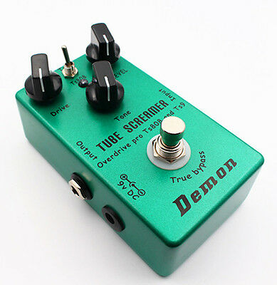 Handmade upgraded TS9 TS808 Overdrive/Distortion Tube Screamer 2 in 1 true bypas