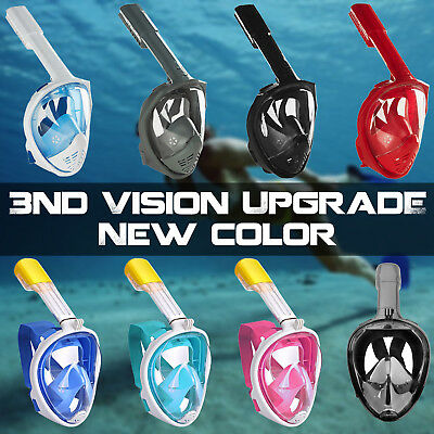 Full Face Snorkeling Snorkel Mask Diving Goggles W/ Breather Pipe For GoPro