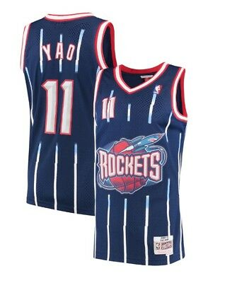 2002-03 Houston Rockets Yao Ming Mitchell   Ness Mesh NBA Navy Swingman  Jersey 471d48fee