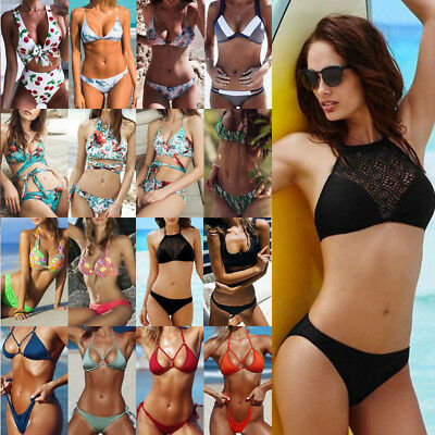 2018 Womens Bikini Set Bandage Push-Up Padded Swimwear Swimsuit Bathing Suit
