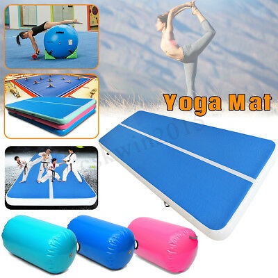 100x85CM Inflatable Gymnastics Mat Air Rolls Balance Training Roller Beam Gym