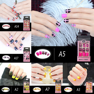 24 pcs Elegant Touch Express False/Fake Nails 3 Minute Manicure Pre Glued Stick