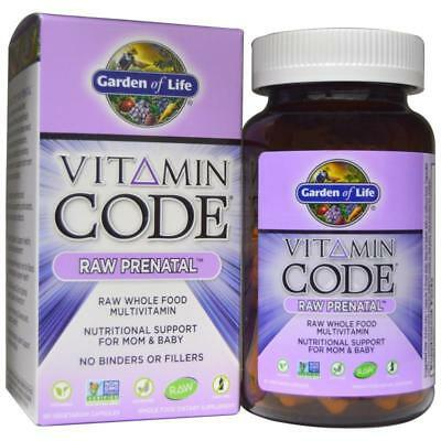 Garden Of Life Vitamin Code Raw Prenatal Raw Whole Food Supplement Daily