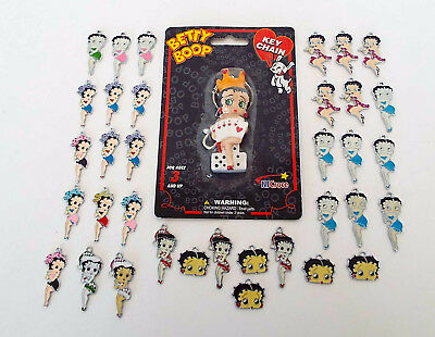 31 Piece Lot Betty Boop Collectibles Queen Of Heart Key Chain Enamel Charms