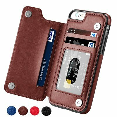 Luxury Magnetic Leather Case Flip Card Holder Wallet Cover For iPhone Samsung