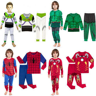 Kid Boy Superhero Pajamas Child Hulk Sleepwear Set Toddler Nightwear PJS Costume
