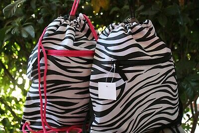 ANIMAL PRINT Zebra Leopard Cheetah SLING SACK BACKPACK BAG School Travel Beach