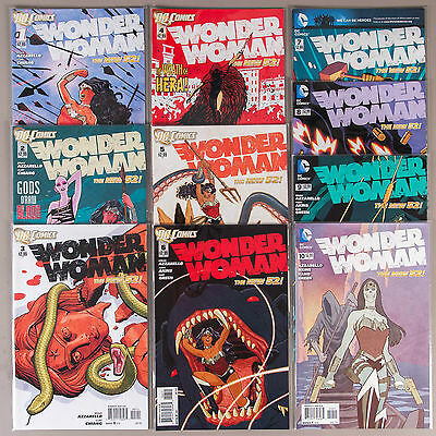 Wonder Woman #1-10, Full Run (Vol. 4), Lot of 10 DC comics, complete VF+ set