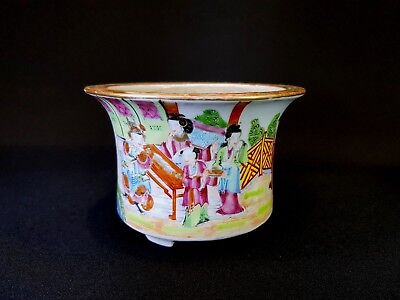 Beautiful Bright Chinese 19Th C Famille Rose Canton Figures Jardiniere Planter
