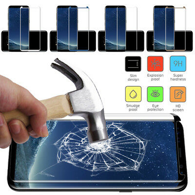 Full Temper Glass Screen Protector For Samsung Galaxy S7 Edge S8 /S9+ Note 8 FB