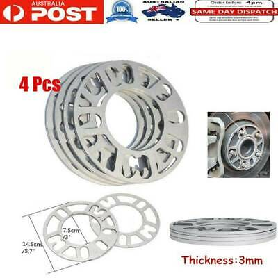 2pcsx 3mm Alloy Aluminum Wheel Spacers Shims Spacer Universal For 4/5 Stud Wheel