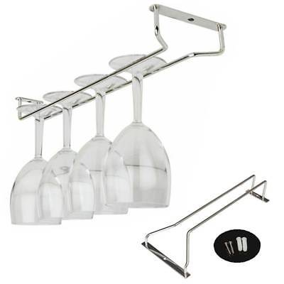 35cm 13'' Chrome Plated Wine Champagne Glass Cup Hangers Rack Holder+Screws Set