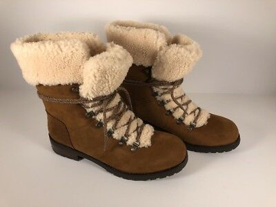 2c717b29c121 UGG Fraser Chestnut Water-Resistant Leather Women s Boots 1018896 Size 9.5
