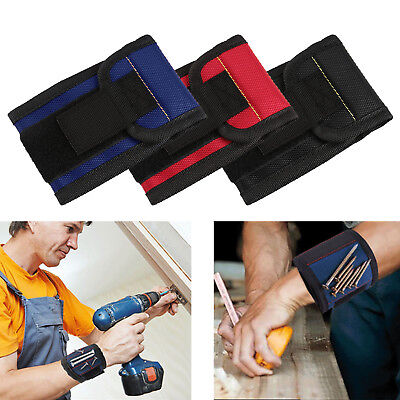 Wristband Adjustable Screws Strong Magnetic Belt Working Pouch Bag Helper Tool