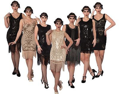 Banned 1920's Great Gatsby Sequin Fringe Flapper Charleston Cocktail Party Dress