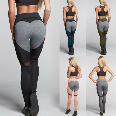 Women Sports Yoga Pants High Waist Fitness Leggings Running Gym Stretch Trousers