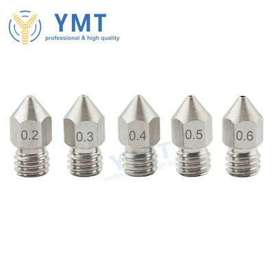 3D Printer MK8 Stainless Nozzle Extruder M6 Thread 1.75mm 0.2 0.3 0.4 0.5 0.6mm