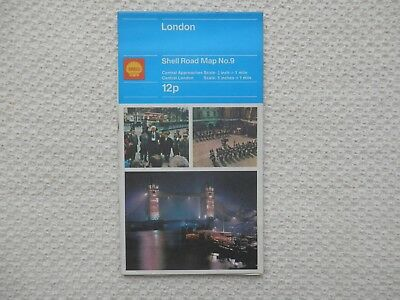 SHELL Road Map of LONDON number 9 dated 1972 new old stock