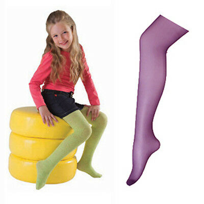 ZK05 Kids Fashion 20D Wine Red Color Full Foot Tights Pantyhose