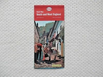ESSO Road Map of the SOUTH and WEST ENGLAND number 3 dated 1962 new old stock
