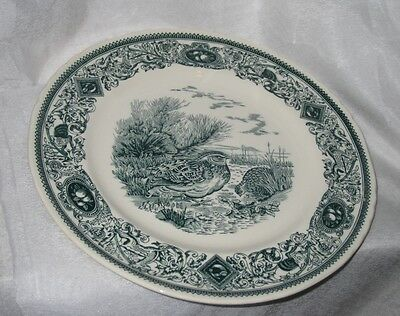 Dark Blue and White Mason's Ironstone Collector's Plate Showing Quails