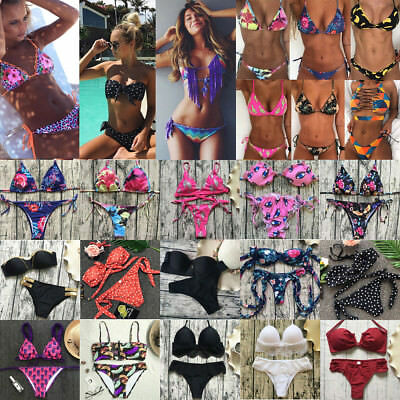 Womens Bikini Set Push Up Padded Swimsuit Bathing Suit Swimwear Beachwear Lot