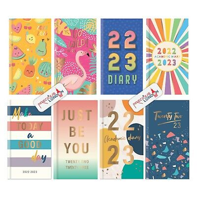 2019 - 2020 A6 Size Slim Week to View Mid Year Academic Diary Foil Finished