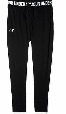 Under Armour Children's Girls Tech Jogger Pants - Black / Pink UK Youth S / XL