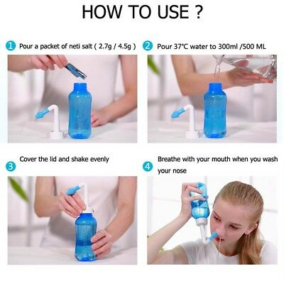 how to use nasal rinse bottle