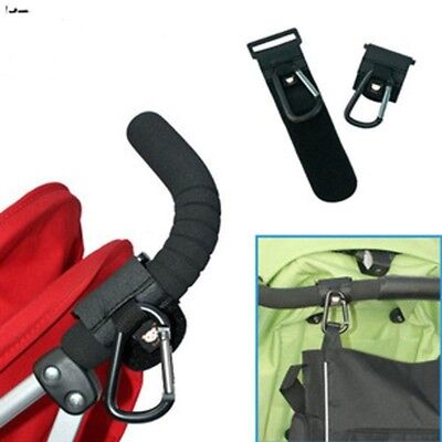 Baby Buggy Pram PushChair Clip Stroller Pushchair Bag Metal Hook Hanger