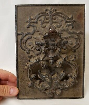 Large Antique Cast Iron Victorian Door Knocker