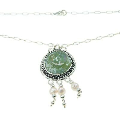 Roman Glass Pendant Authentic & Luxurious With Certificate from Holyland