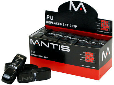 MANTIS PU Replacement Grip - Tennis Squash Badminton - BLACK 1 4 24