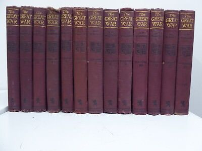 THE GREAT WAR,  H W WILSON, Complete Set. WW1 History books a hundred years old.