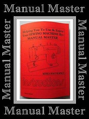 Models 641 & 942 Jones Brother  sewing machine instruction Manual Booklet