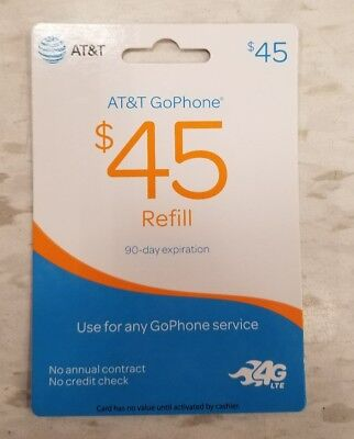 AT&T GoPhone $45 Refill Card