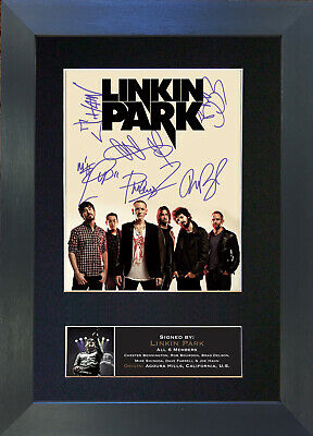 LINKIN PARK Signed Mounted Autograph Photo Prints A4 705
