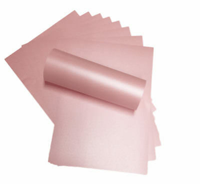 50 A4 Petals Pink Paper Peregrina Majestic Pearlised/shimmer Both Sides 120Sm