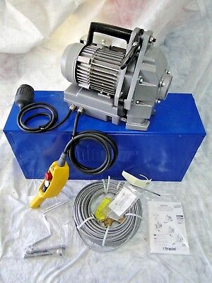 Tractel Minifor TR10 PORTABLE MOTORIZED WIRE ROPE WINCH Hoist griphoist w/Rope
