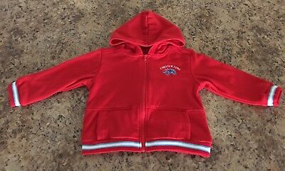 BT Kids Toddlers Child Red Lobster Luau Zippered Jacket with Hood & 2 pockets 2T