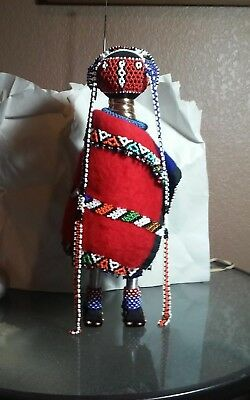 Outstanding South African Beaded tribal doll,sculpture possible Zulu or Ndebele