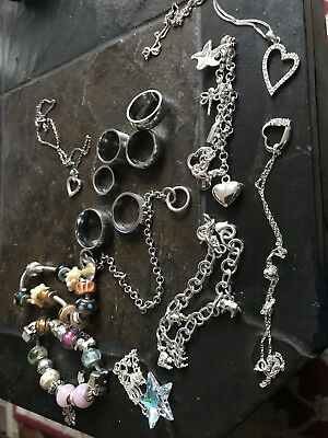 job lot silver jewellery and stainless steel