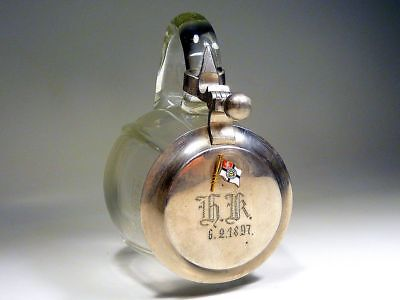 Glas Bier Krug Turner Turnerschaft Turnverein Forst Lausitz 1897